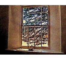 A Window Inside Church of the Three Mile Run Photographic Print