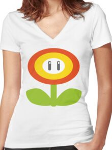 Hot and cool  Women's Fitted V-Neck T-Shirt