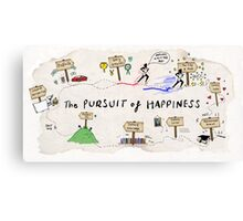 the pursuit of happiness Canvas Print