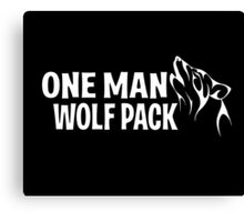 One Man Wolf Pack Canvas Print