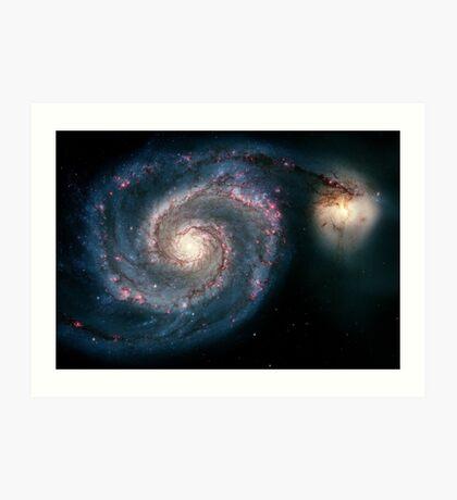 Whirlpool Galaxy | Infinity Symbol | Fresh Universe Art Print