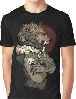 Wolf Rising Brown Graphic T-Shirt