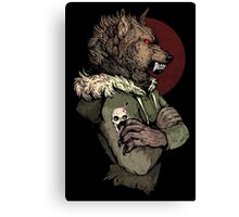 Wolf Rising Brown Canvas Print