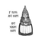 If Mama Ain't Happy ... Pencil Drawing of Smiling Gnome Woman by Joyce Geleynse