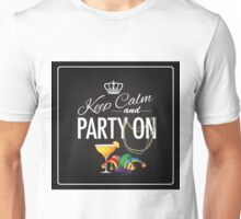 Keep calm and party on Cinco De Mayo blackboard design Unisex T-Shirt