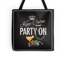 Keep calm and party on Cinco De Mayo blackboard design Tote Bag