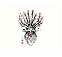 The Deer God sumi-e Art Print