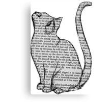 NEWSPAPER CAT tumblr merch! Canvas Print