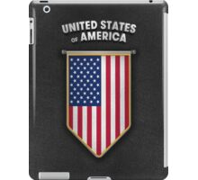 USA Pennant with high quality leather look iPad Case/Skin