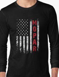 Funny Mopar Flag T-shirt Long Sleeve T-Shirt