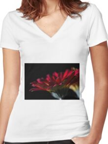 Reaching Out Women's Fitted V-Neck T-Shirt
