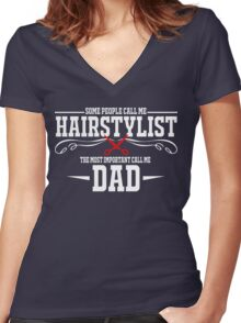best gift for hairstylist Women's Fitted V-Neck T-Shirt