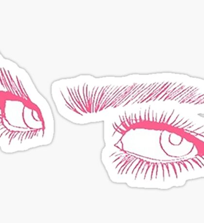 EYES EYELINER EYEBROWS tumblr merch! Sticker