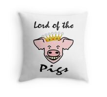 Lord of the pigs Throw Pillow