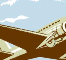 DC10 Propeller Airplane Flying Shield Retro Sticker