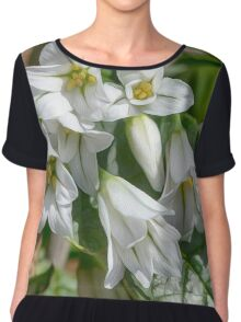 wild garlic flowers Chiffon Top