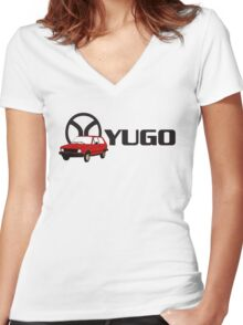 YUGO - WORST CAR IN HISTORY Women's Fitted V-Neck T-Shirt