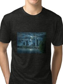 Storm in the city Tri-blend T-Shirt