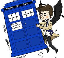 Castiel Has The Phone Booth by Wolven Company