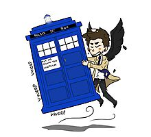 Castiel Has The Phone Booth Photographic Print