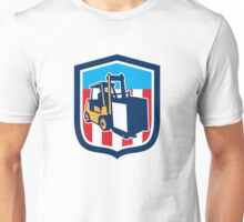 Forklift Truck Materials Logistics Shield Retro Unisex T-Shirt
