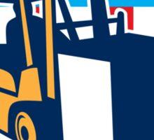Forklift Truck Materials Logistics Shield Retro Sticker