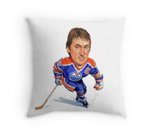 Wayne Gretzky Edmonton Oilers Throw Pillow