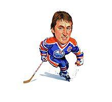 Wayne Gretzky Edmonton Oilers Photographic Print