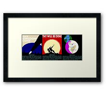 COUNTER/Weight - Triptych Framed Print