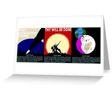 COUNTER/Weight - Triptych Greeting Card
