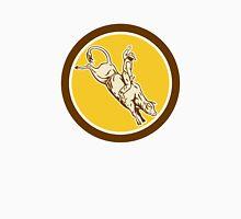 Rodeo Cowboy Bull Riding Retro Circle Unisex T-Shirt