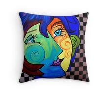 PICASSO PAINTING BY NORA  TWO FACE Throw Pillow