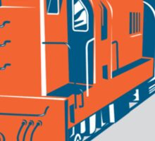 Diesel Train American Stars Stripes Retro Sticker