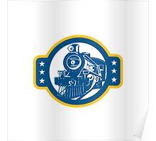 Steam Train Locomotive Front Retro Poster