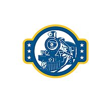 Steam Train Locomotive Front Retro Photographic Print