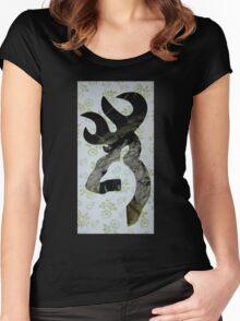 Brwning Logo Camo Women's Fitted Scoop T-Shirt