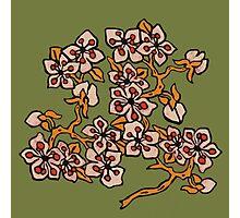 Golden Blossom on Grassy Green Photographic Print