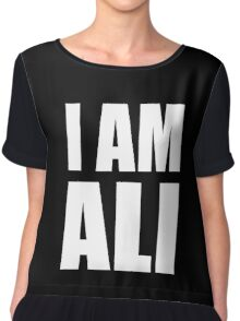 "MUHAMMAD ALI ""I AM ALI"" MOVIE LEGENDS Chiffon Top"