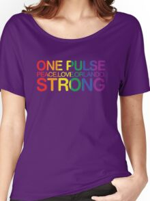 Peace, Love, Orlando Pride Women's Relaxed Fit T-Shirt