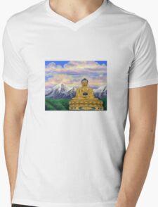Sitting Still: Golden Buddha, Nepal Mens V-Neck T-Shirt