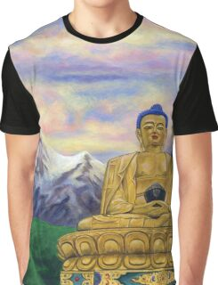 Sitting Still: Golden Buddha, Nepal Graphic T-Shirt