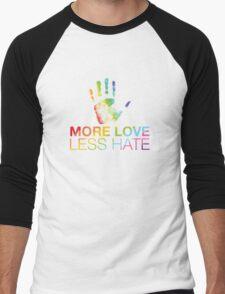 More Love Less Hate, Orlando Pride Men's Baseball ¾ T-Shirt