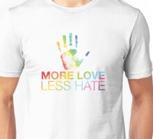 More Love Less Hate, Orlando Pride Unisex T-Shirt