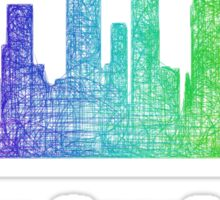 Rainbow Los Angeles skyline Sticker