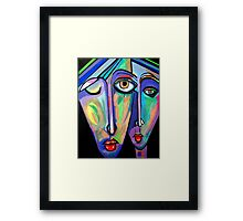 PICASSO PAINTING BY NORA  THE TWINS Framed Print