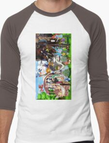 Studio Ghibli Characters 2 Men's Baseball ¾ T-Shirt