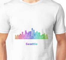 Rainbow Seattle skyline Unisex T-Shirt