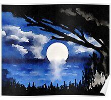 Blue Moonlight Serenade II Poster