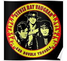 Stevie Ray Vaughan & Double Trouble Colour Poster
