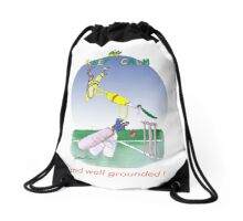 Keep Calm and well grounded - tony fernandes Drawstring Bag
